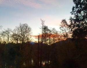 Frosty Fiery Sunrise