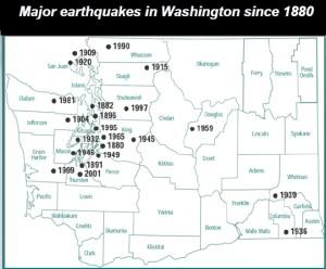 Washington Earthquakes